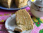 Миниатюра к статье Торт из песочного теста. Песочный торт с мёдом