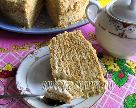 Песочный торт с мёдом рецепты