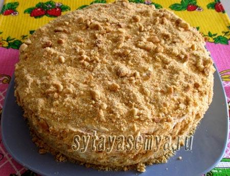 песочный торт медовый