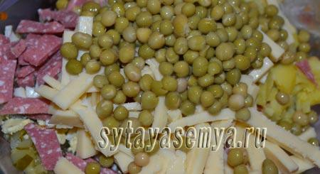 салят-s kopchenoj-колбаски-ogurcom-я-syrom-6