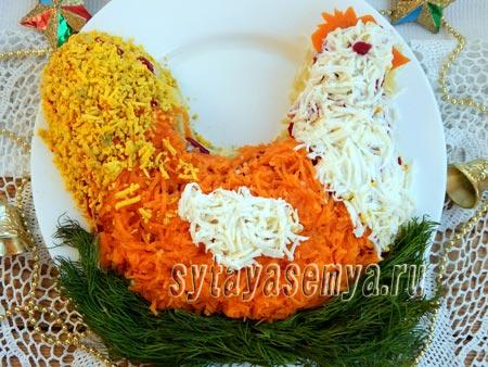 salat-v-vide-kurochki-салат в виде Курочки