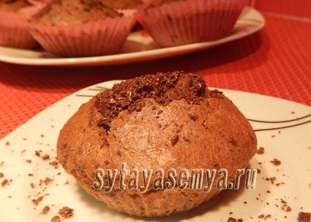 Маффины с кусочками шоколада