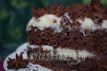 рецепт шоколадного торта без яиц