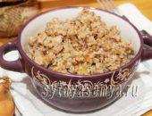 Миниатюра к статье Гречка с фаршем рецепт на сковороде