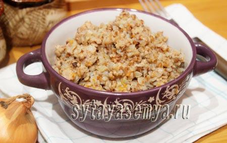 Гречка с фаршем рецепт на сковороде
