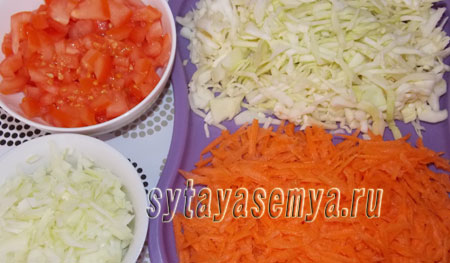 вегетарианское рагу из овощей