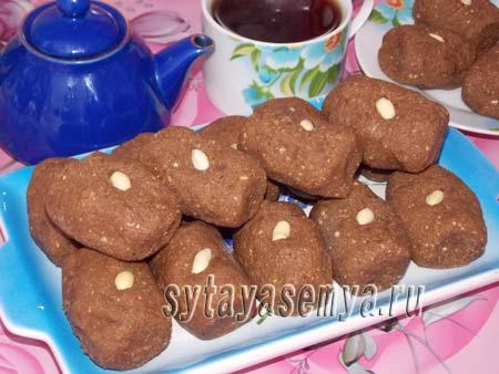 Пирожное Картошка рецепт из вафель, печенья и халвы