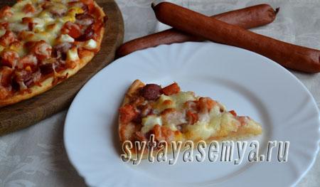 Рецепт пиццы на кефире с дрожжами