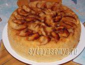 Миниатюра к статье Яблочный пирог шарлотка в мультиварке