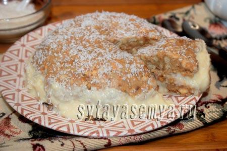 Торт печенье со сгущенкой