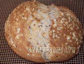 Миниатюра к статье Домашний цельнозерновой хлеб с семенами льна
