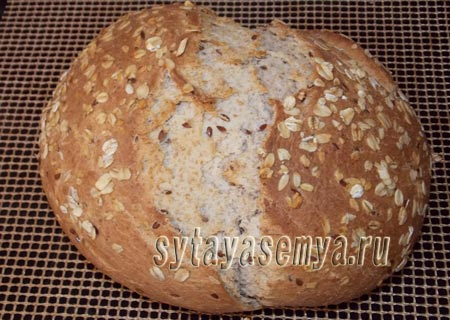 Домашний цельнозерновой хлеб: пошаговый рецепт с фото