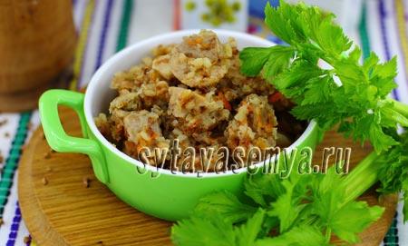 Гречка с мясом рецепт в мультиварке с фото пошагово