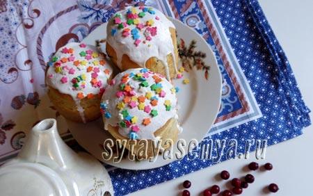 Пасхальный кулич с изюмом в духовке: удачный рецепт с фото