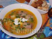Миниатюра к статье Суп гороховый с мясом: пошаговый рецепт с фото