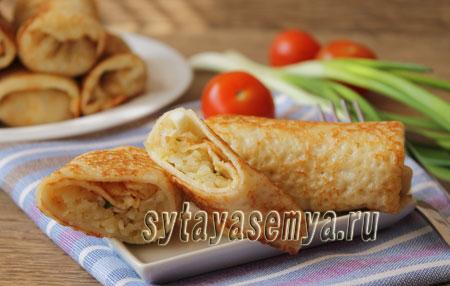 Блинчики с рисом и яйцом: пошаговый рецепт с фото