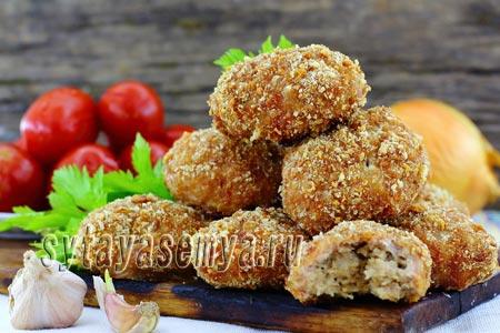 Котлеты из свинины в духовке рецепт с фото