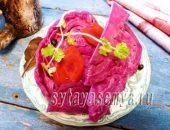 Маринованная капуста со свеклой рецепт