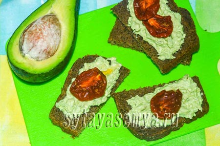 Рецепт пасты для бутербродов из авокадо