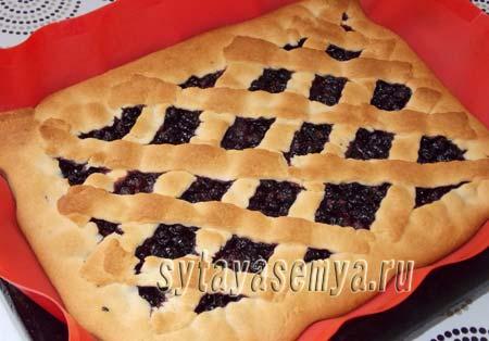 ягодный пирог из песочного теста