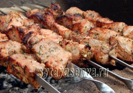 Шашлык из свинины на минералке: пошаговый рецепт с фото