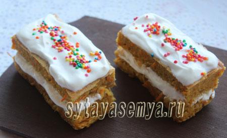 Диетический морковный торт: пошаговый рецепт с фото
