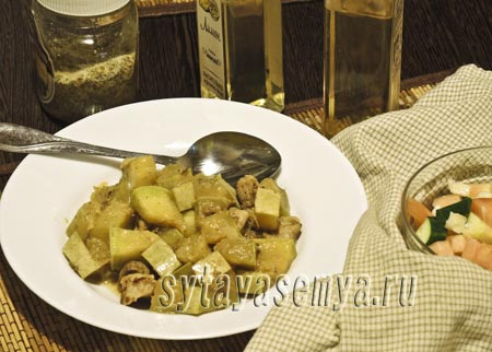Как приготовить кабачки, жареные с мясом