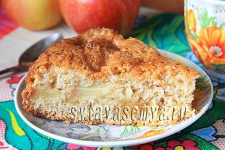 Шарлотка с яблоками и корицей в духовке рецепт с фото