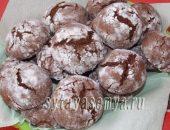 Миниатюра к статье Шоколадные пряники в сахарной пудре