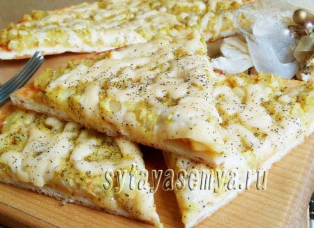 Вегетарианская пицца с картофелем