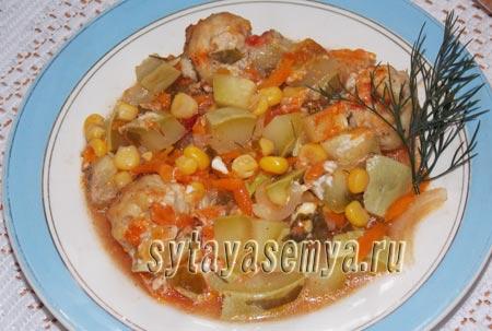 Как приготовить фрикадельки с овощами в духовке