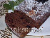 Миниатюра к статье Шоколадный кекс с чёрной смородиной