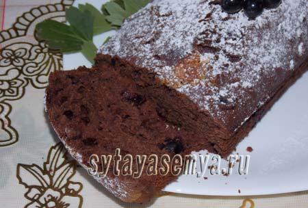 Как приготовить шоколадный кекс с чёрной смородиной