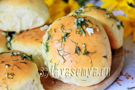 Чесночные булочки в духовке, рецепт с фото