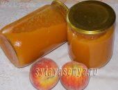 Миниатюра к статье Джем из персиков с яблоками