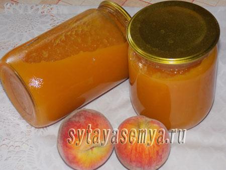 джем из персиков с яблоками