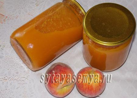 Как приготовить джем из персиков с яблоками