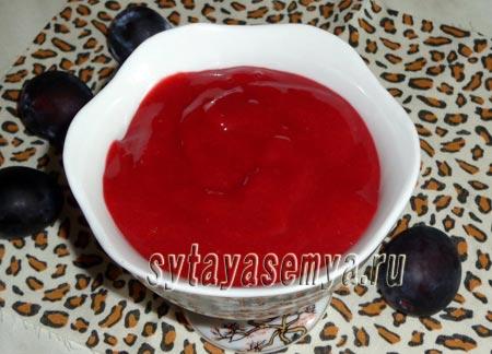 Кисло-сладкий соус из слив