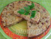 Миниатюра к статье Закусочный пирог с куриной печенью