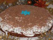 Миниатюра к статье Ржаной пирог на кефире со сметанным кремом