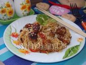 Миниатюра к статье Рисовая лапша с мясом и овощами