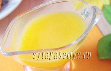 Апельсиновый соус для блинчиков