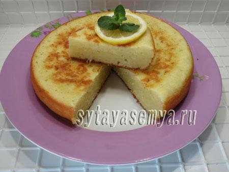 Творожно-лимонный пирог в мультиварке