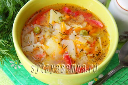 варим овощной суп зимой