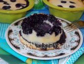 Миниатюра к статье Творожный пудинг с черникой в духовке без муки и сахара