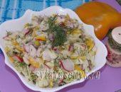 Миниатюра к статье Овощной салат с яблоком и йогуртом
