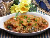 Миниатюра к статье Рыба с овощами в томатном соусе в мультиварке