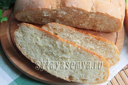 Пышный домашний хлеб на воде