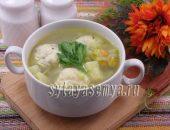 Миниатюра к статье Суп овощной с сырными шариками в мультиварке