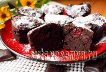 шоколадные кексы брауни